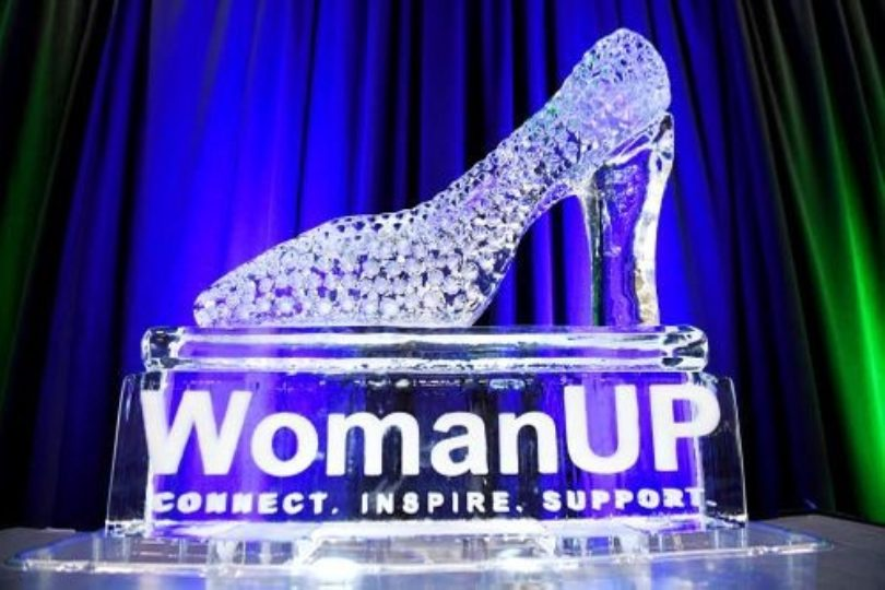 Woman Up Ice Sculpture