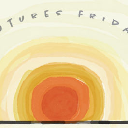 Futures Friday cover using the image of a sunrise in watercolor